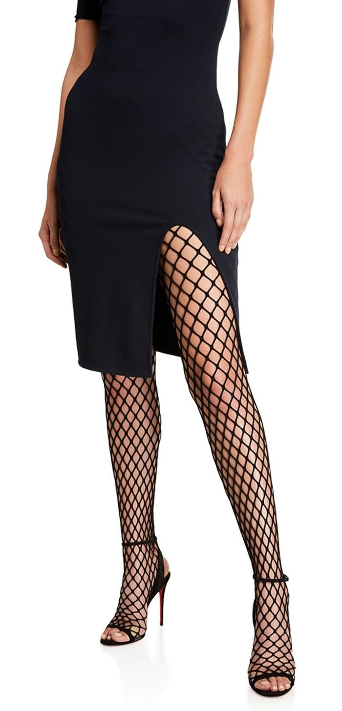 4dd117103 Christian Louboutin Zoom Fishnet Tight Red Sole Shoes Fishnet Tights