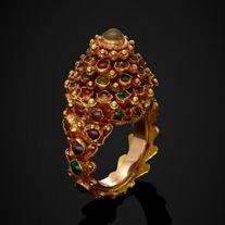 A Gold Princess or Pagoda Ring, Thailand 16 - 17th Century