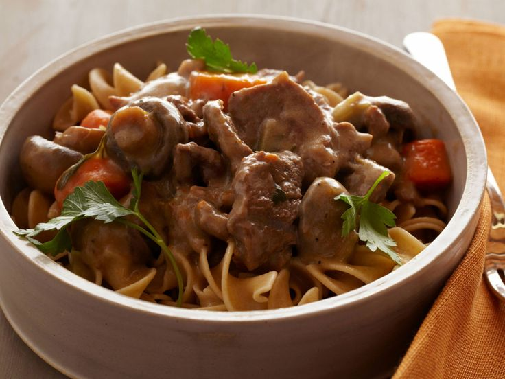 Pressure Cooker Beef Stroganoff recipe from Food Network Kitchen via Food Network. I do not use the cream cheese.  Delicious!!!
