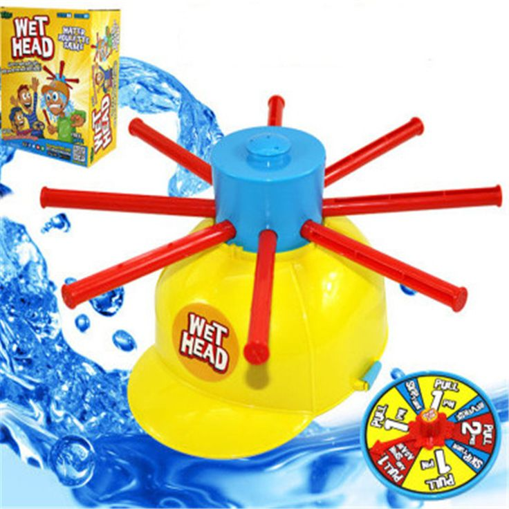 1PC Parents Kids Wet Head Challenge Fun Water Roulette Family Party Prank Games Toys Funny Gadgets For kid gift #Affiliate
