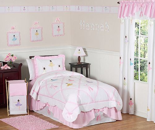 Pink Ballerina Ballet Dancers Comforter Bedding Set For Girls  #kidsroomstore $109.99