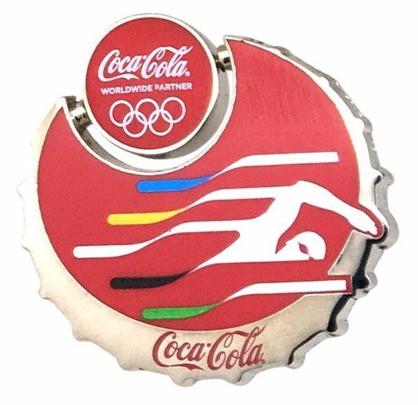 2016 Rio Olympic Sponsor Coca Cola Swimming Pin Badge | eBay