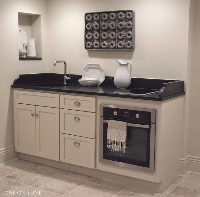 """Studio Apartment Kitchen Design Basement Studio Apartment: Tone On Tone: 72"""" Kitchenette"""