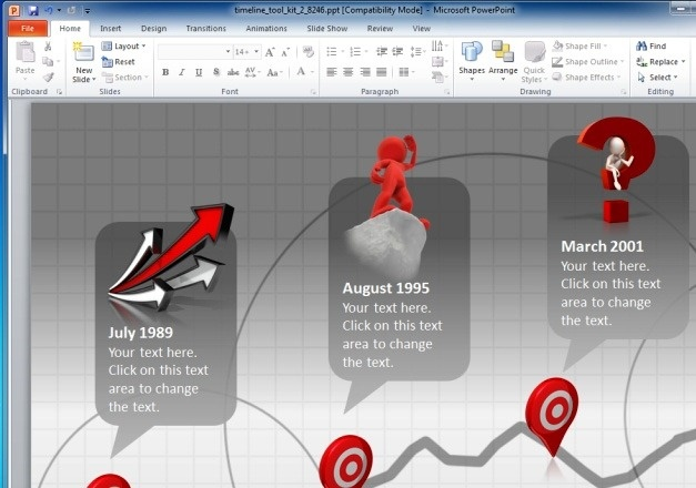 how to make an interactive timeline in keynote
