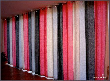 9 best rideaux couture lin images on pinterest curtains - Rideaux baies vitrees ...