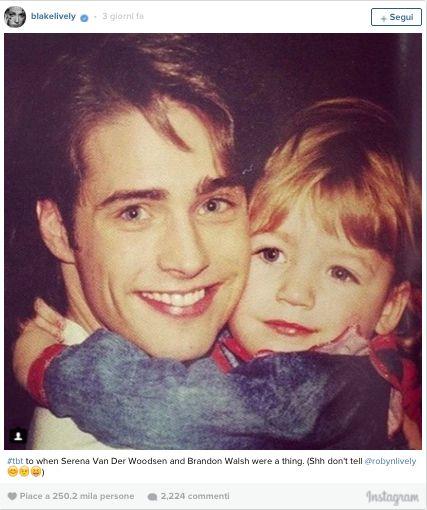 Blake Lively da bambina abbraccia e Jason Priestley - Elle
