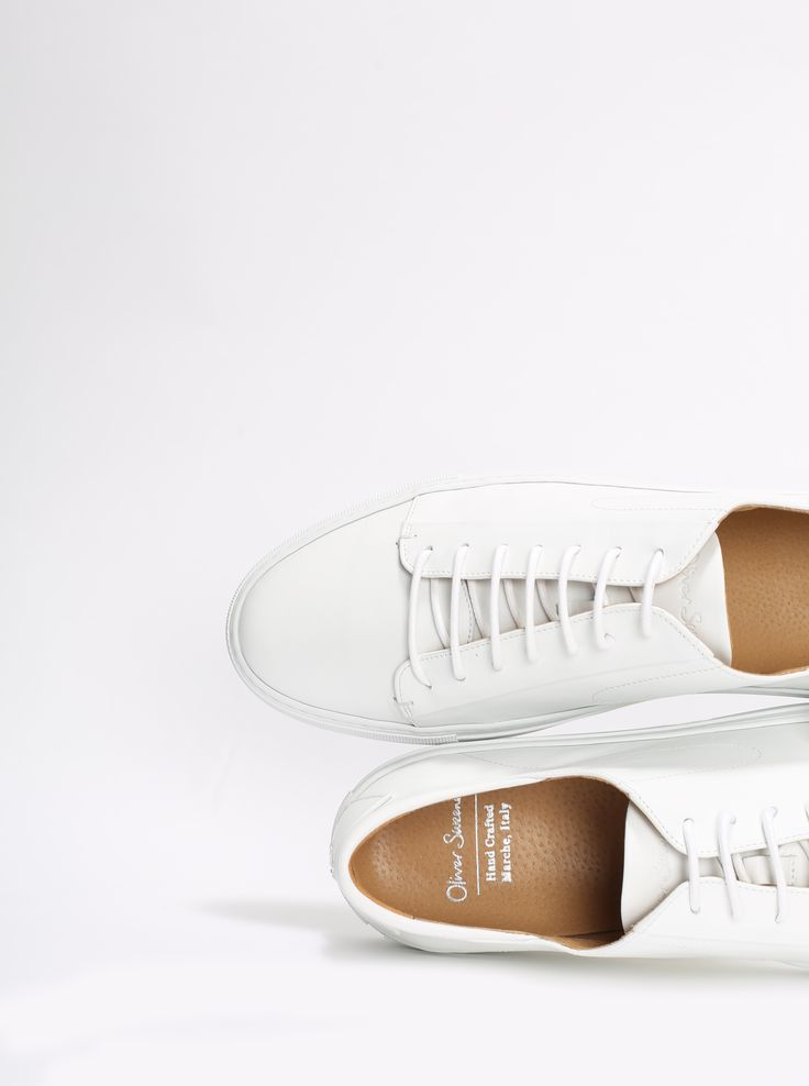 White leather trainers from Oliver Sweeney