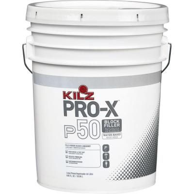 Kilz Pro X 5 Gal P50 White Interior Exterior Concrete Block Filler Px05005 At The Home Depot