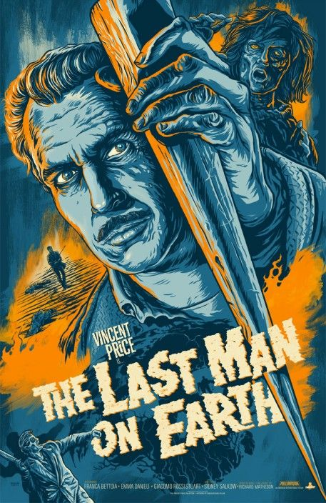 """""""The Last Man on Earth"""" Alternative Movie Poster by Phantom City Creative  This is the best film version of I Am Legend, starring the man, the myth, the legend, Vincent Price!: Vincent Of Onofrio, Movie Posters, Vector Illustrations, Picture-Black Posters, Legends, Posters Design, Reading Posters, Vincent Price, Earth"""