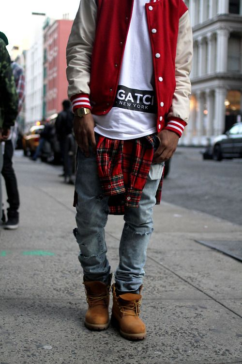 NYC. Youth. New. Fresh. Clean. Street Style. Trend. Modern. Outside the Box. Boots. Rough. Pattern. Baseball Jacket. Print. Black & White. Casio. Watch. Tee. Oversized. Dope. Awesome. True Style. Men. Fashion. Clothing. Outfit. Slim.
