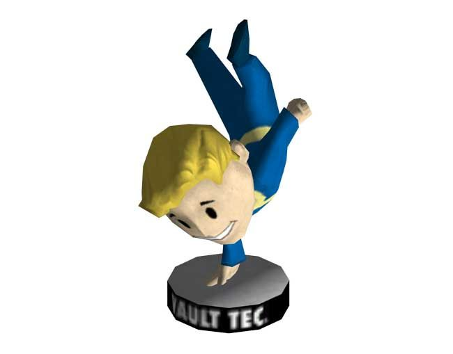 Fallout 3 - Bobblehead - Agility Vault Boy Free Papercraft Download - http://www.papercraftsquare.com/fallout-3-bobblehead-agility-vault-boy-free-papercraft-download.html#BobbleheadAgility, #Fallout, #VaultBoy