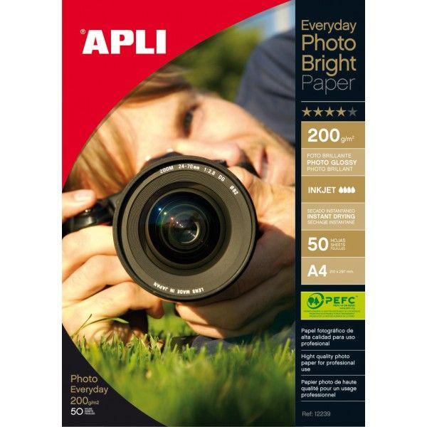 Comprar Papel fotográfico A4 200g 50 hojas Apli 12239  #oficina #tienda #negocio #casa #hogar #papel #fotografico #profesional #A4