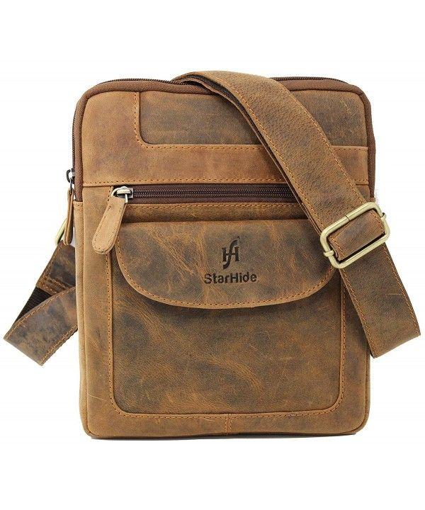 496294dbeed3 Designer Unisex Real Hunter Leather Cross Body Messenger Bag 505 ...