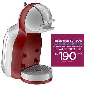 (eFácil) Cafeteira Expresso Automática Dolce Gusto Mini Me Vermelha 110V - Arno - de R$ 734.69 por R$ 473.89 (36% de desconto)
