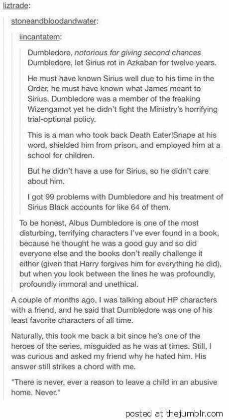 This is the best description of the flaws with Dumbledore that I've seen