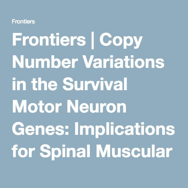 Frontiers | Copy Number Variations in the Survival Motor Neuron Genes: Implications for Spinal Muscular Atrophy and Other Neurodegenerative Diseases | Molecular Diagnostics