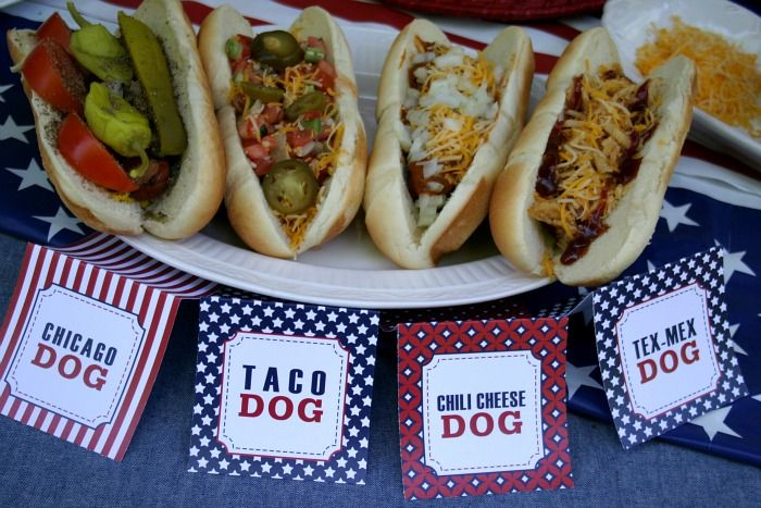 Hot Dog Bar: Free Party Printables
