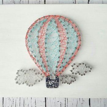 nice Hot Air Balloon String Art