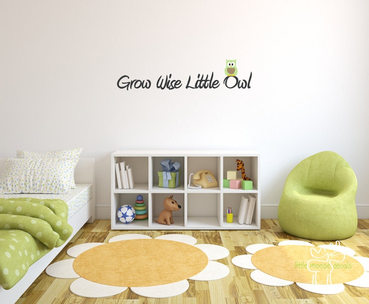 Children Wall Decal Grow Wise Little Owl by LittleMooseDecals, $20.00