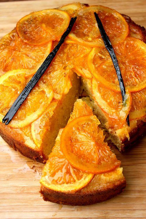 Sticky Orange Upside-down & Vanilla Cake