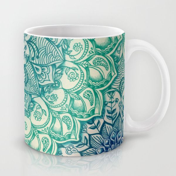 Emerald Doodle by micklyn as a high quality Mug. Free Worldwide Shipping available at Society6.com from 11/26/14 thru 12/14/14. Just one of millions of products available.