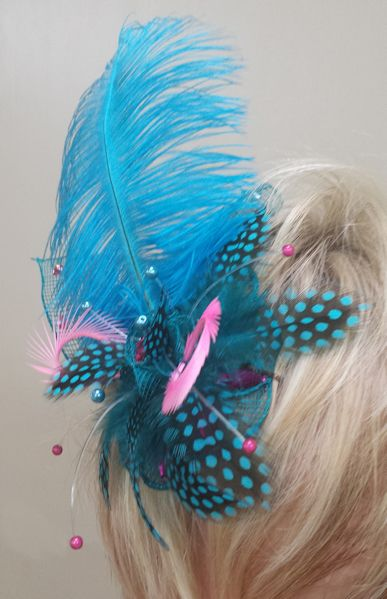 Different angle of the fascinator I made for the Otaki races last week.