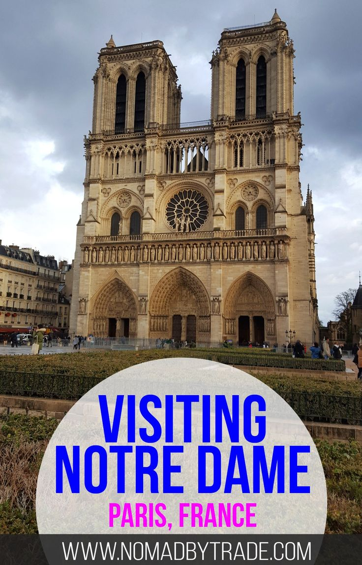 Info for visiting the Notre Dame cathedral in Paris, France. Don't forget to climb the towers. Ile de la Cite   Things to do in Paris   Where to see Notre Dame   Gargoyles   Paris Museum Pass   #Paris   #France   #NotreDame
