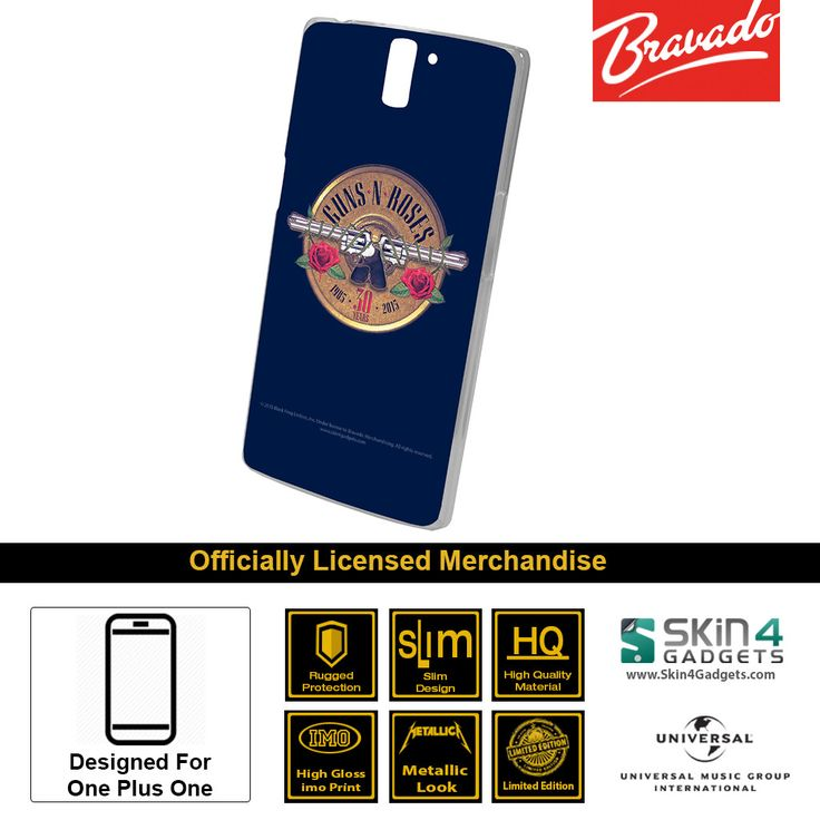 Buy Guns N Roses Emblem 30 Years Edition Mobile Cover & Phone Case For One Plus One at lowest price online in India only at Skin4Gadgets. CASH ON DELIVERY AVAILABLE