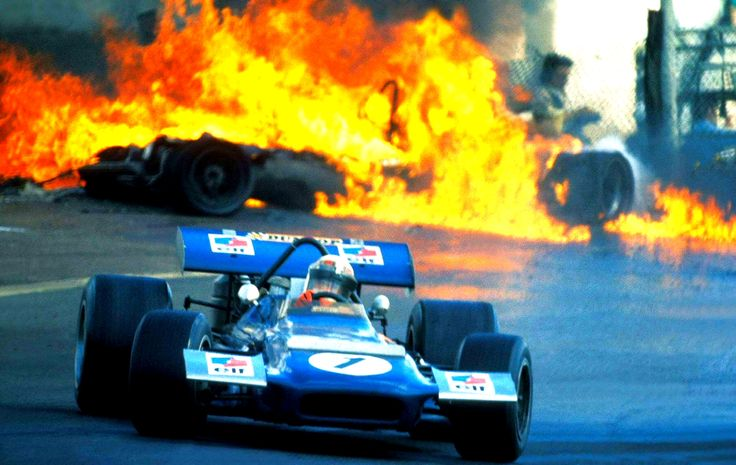 Jackie Stewart - No photo sums up this beautiful yet brutal era of Grand Prix racing quite like this one.