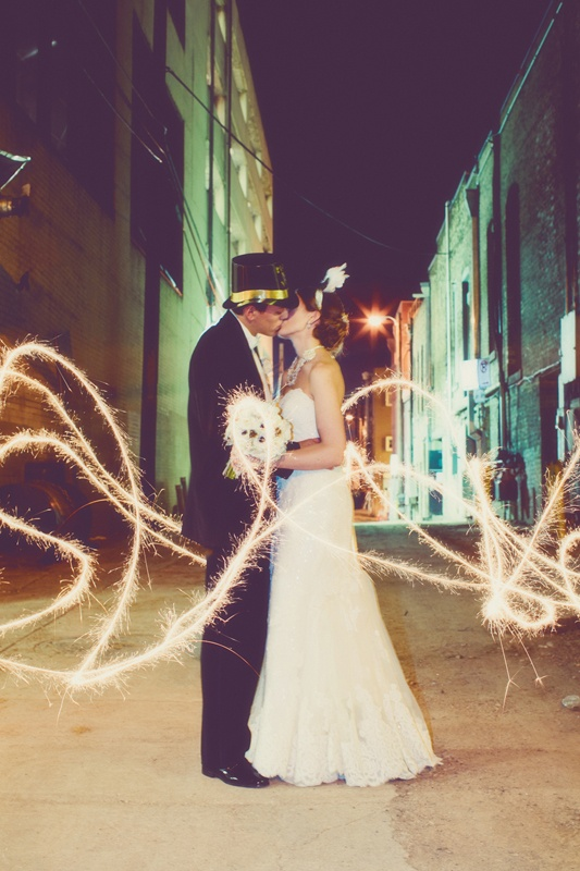Copy catted this picture and I LOVE it! New Years Eve Wedding Sparkler Picture.