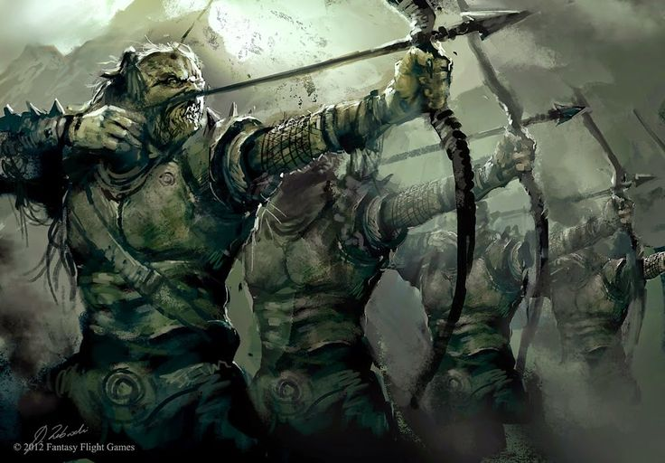 Arrer Boyz are those unusual Orcs whom have taken up the uncommon skill of archery, usually banding together into their own warbands and providing Greenskin armies with missile troops equipped with crude yet effective composite bows. Since most Orc's prefer the use of close-combats weapons such as a choppa, Arrer Boyz are not the most numerous missile troops within a Greenskin armies, for these positions are often reserved for warbands of Goblin archers. In fact, it is common for other Orcs…