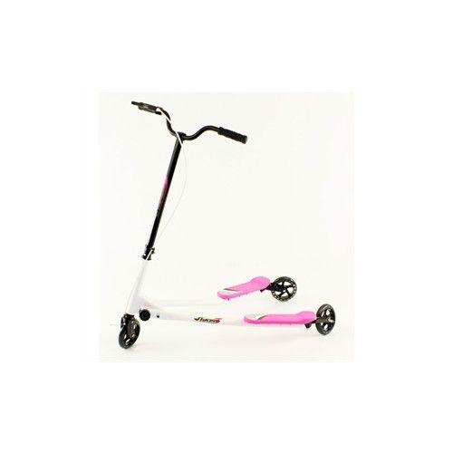 Fliker Løbehjul - hvid/pink