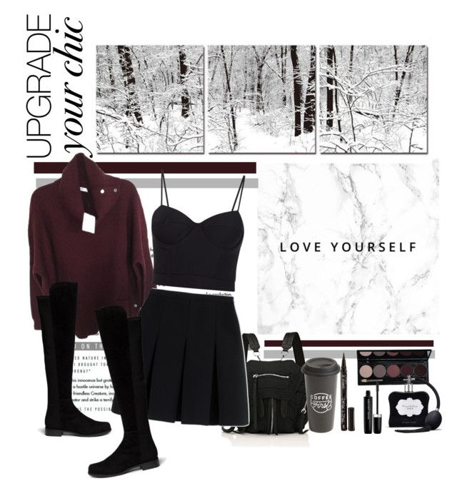 """Love yourself"" by mang03xo ❤ liked on Polyvore featuring Baxton Studio, Alexander Wang, Stuart Weitzman, The Created Co., Smith & Cult, Victoria's Secret and Marc Jacobs"