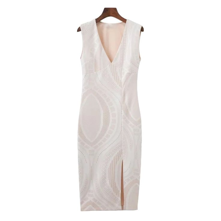 'Golda' Neutral Print Bodycon Dress