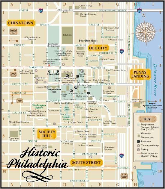 Philadelphia+Walking+Map+of+Attractions | Philadelphia Walking Tour Map