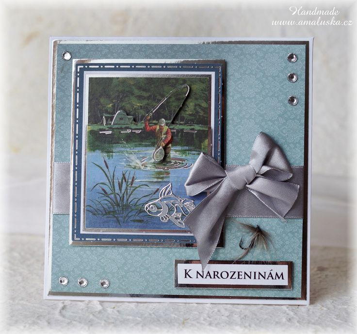 Birthday card for fisherman