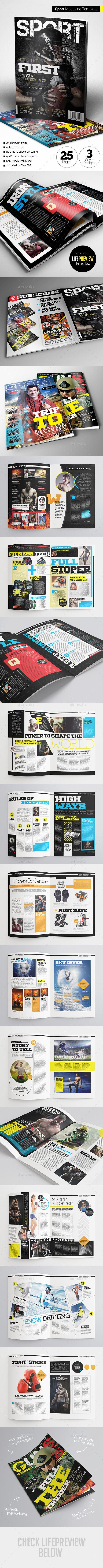 Sport Magazine Template #design Download: http://graphicriver.net/item/sport-magazine/11761550?ref=ksioks