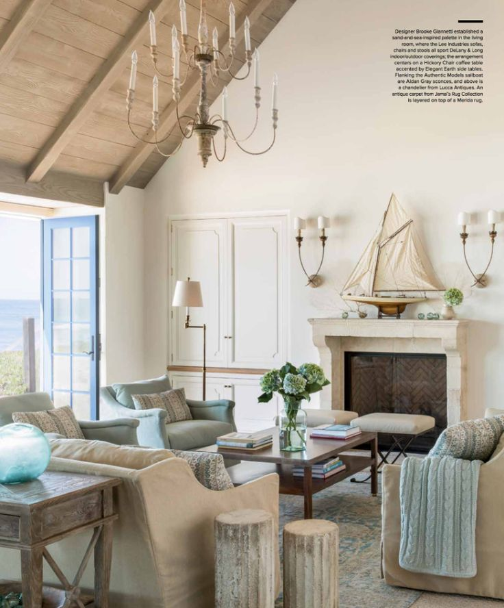 282 best images about living room inspiration on pinterest for French country beach house