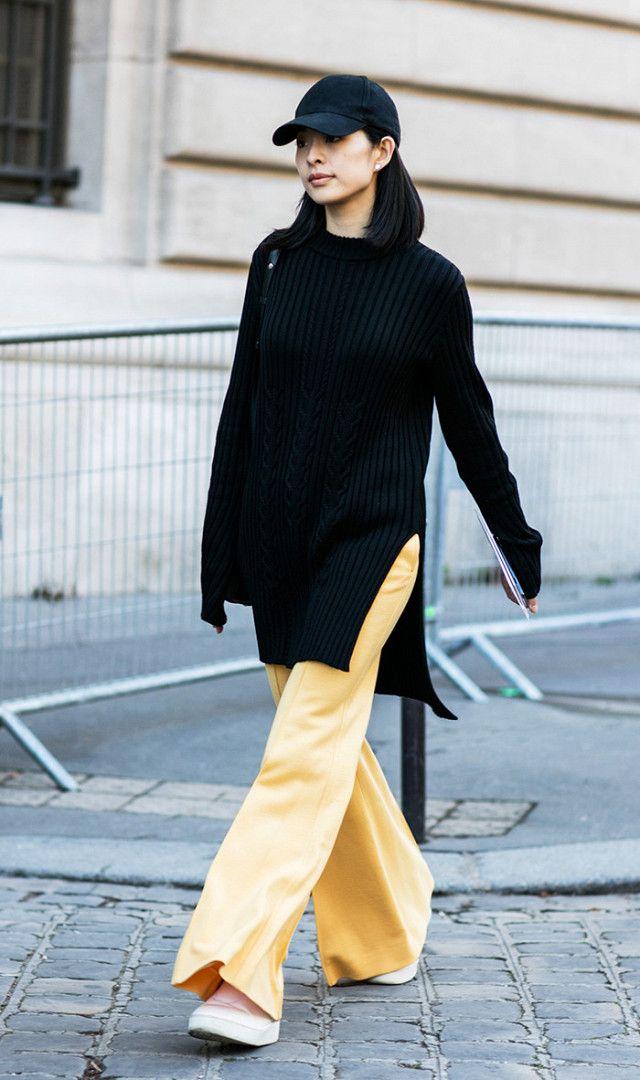 Flowy pants + oversized sweater