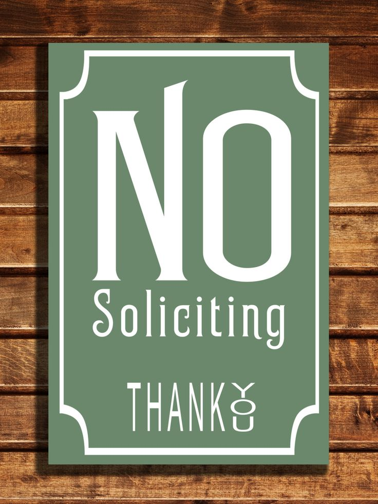 No Soliciting Sign Classic style Aluminum Composite Metal No Soliciting Sign, Please No Soliciting Sign door or wall sign WORLDWIDE SHIPPING by ClassicMetalSigns on Etsy