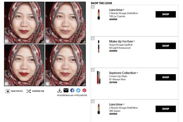 try Sephora virtual artist on sephora website. compare your look up to 4. lipstick junkies must try this app! #sephora #sephoraindonesia #lipstickjunkie #swatch