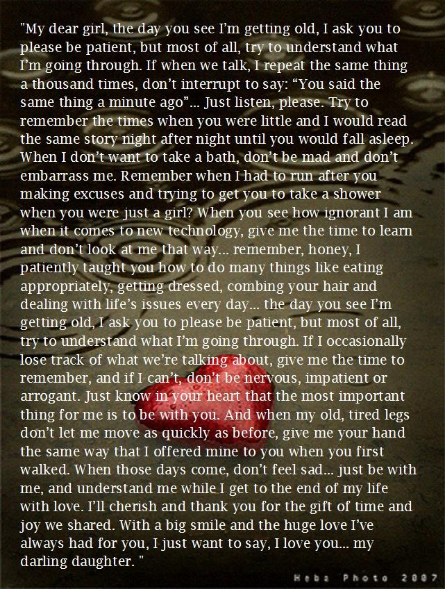 Letter to My Daughter...wow, something to think about