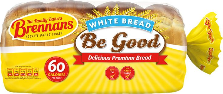 Brennans Be Good Lo Cal White - A delicious premium bread with only 60 calories per slice. Made using only the finest ingredients, it is baked with the care and expertise that you expect from Brennan's. So, if you're looking for a bread with fewer calories per slice, but don't want to compromise on taste, then Brennan's Be Good White is the bread for you. Now available in USA $6.39.