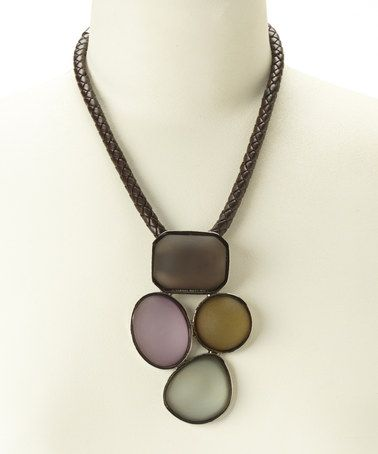 Another great find on #zulily! Gray Frosted Pendant Necklace #zulilyfinds