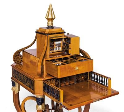 Combination writing and sewing table in Empire style,