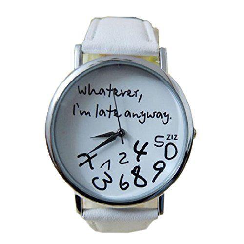 uhr damen Kolylong Frauen Leder Groß und Kleinschreibung Muster Uhren Weiß - http://on-line-kaufen.de/kolylong/uhr-damen-kolylong-frauen-leder-gross-und-muster