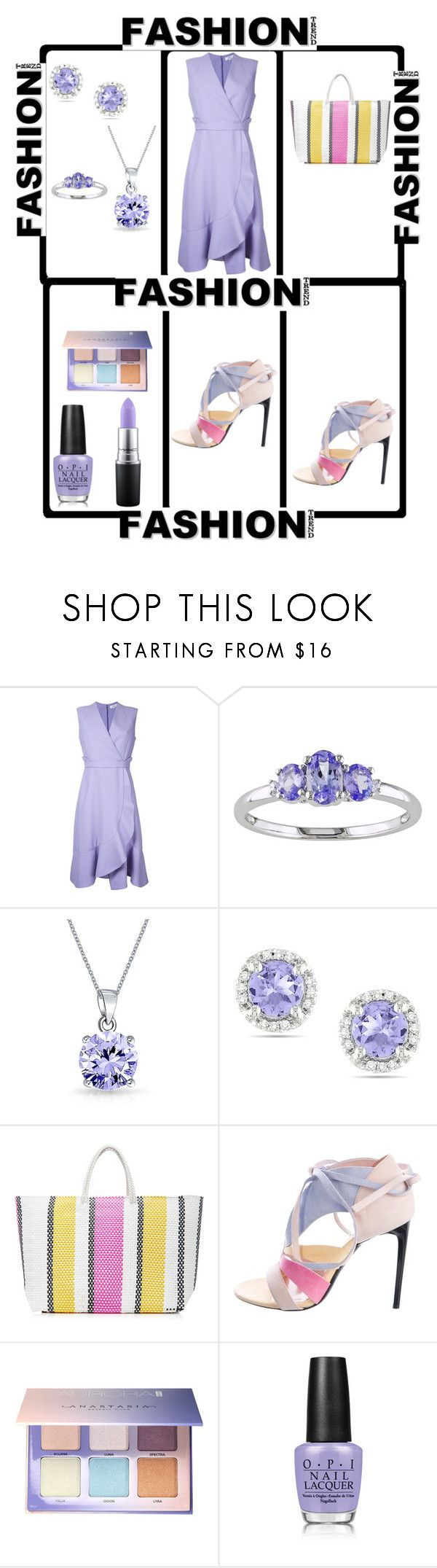 Out by theresagray31 on Polyvore featuring Carven, Roland Mouret, TRUSS, Ice, Bling Jewelry, Anastasia Beverly Hills, MAC Cosmetics and OPI