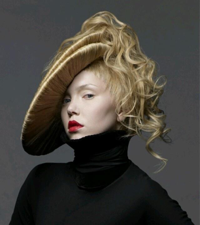 edgy hair & futuristic