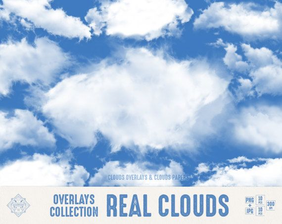 "#Cloud #Overlays ""Real Clouds"" #digital clouds overlays, sky overlays, photoshop overlay, clouds papers, photo overlays, clouds png, clipart  10 digital clouds overlays and 10... #etsy #digiworkshop #scrapbooking #illustration #creative #clipart #printables #cardmaking #sky #paper #clouds #photoshop #png #photography"