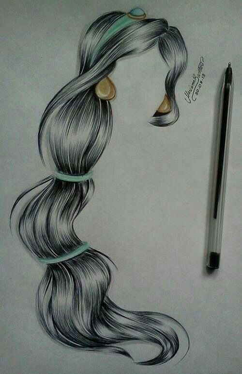 make thehair bands smaller drawing